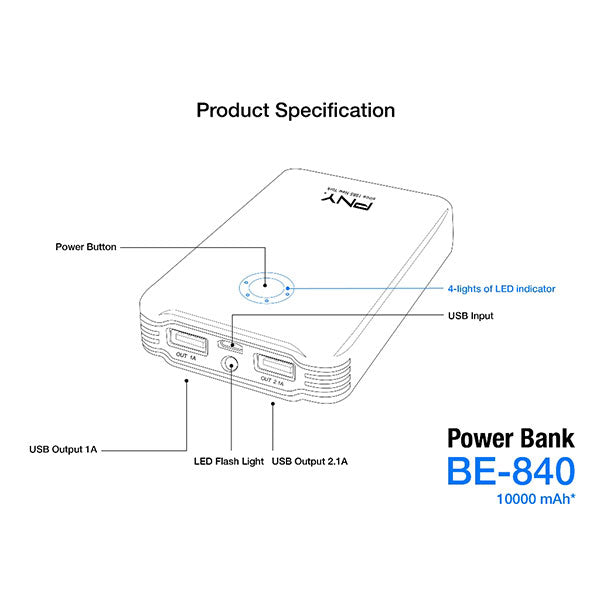 PNY BE-840 10000mAh Power  Bank