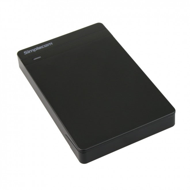 "Simplecom SE203 Tool Free 2.5"" SATA HDD SSD to USB 3.0 Hard Drive Enclosure Black"