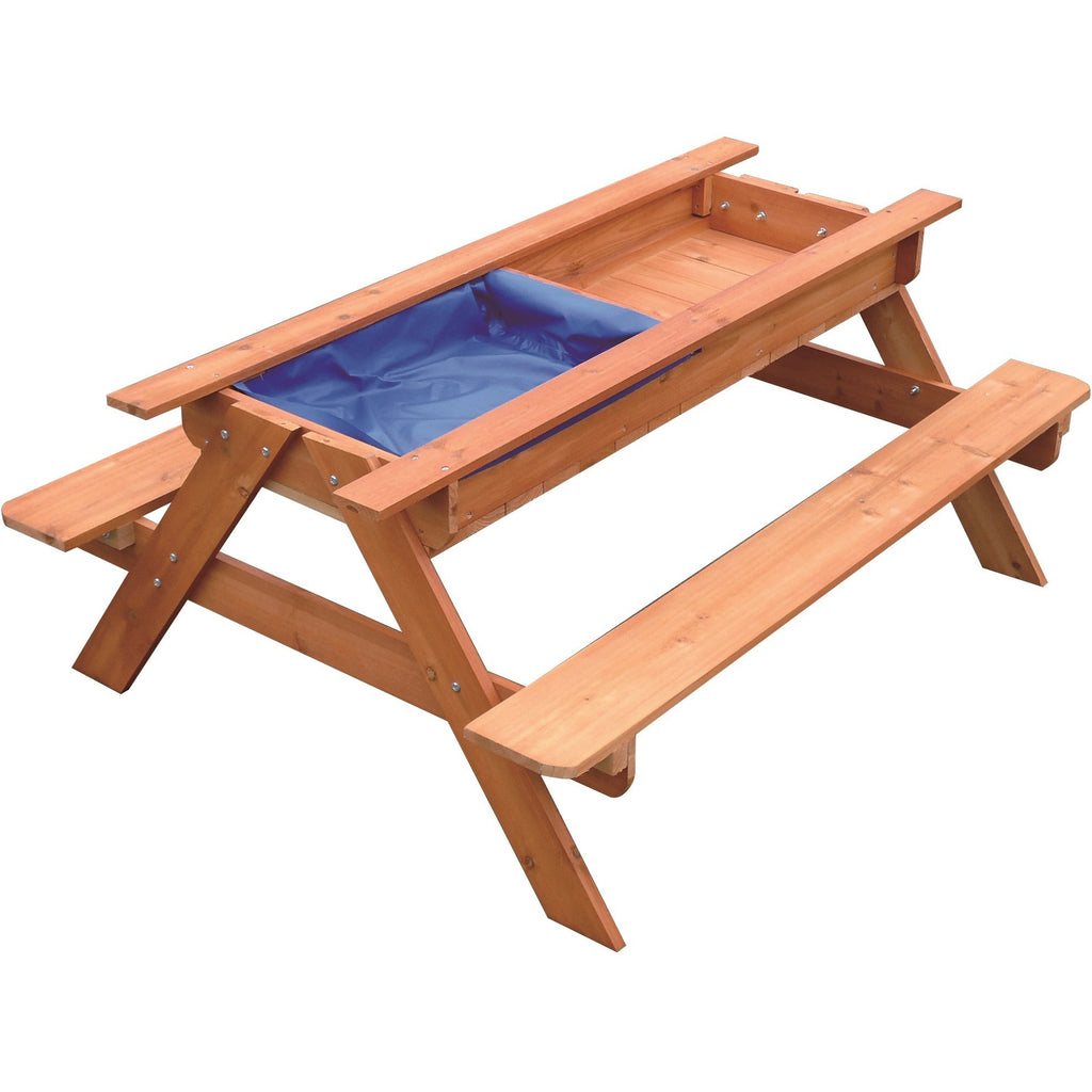 Sand & Water Wooden Picnic Table