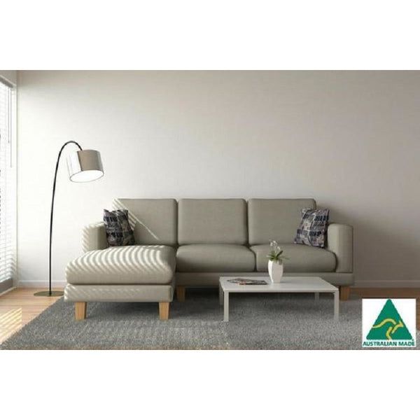 York 3 Seater + Chaise ( Natural ) - Loungeout