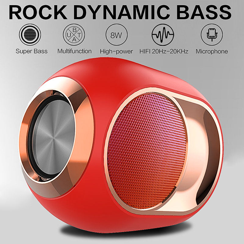 Wireless bluetooth Speaker Portable Heavy bass Stereo Surround Sound FM Radio TF Card AUX Speaker with Mic