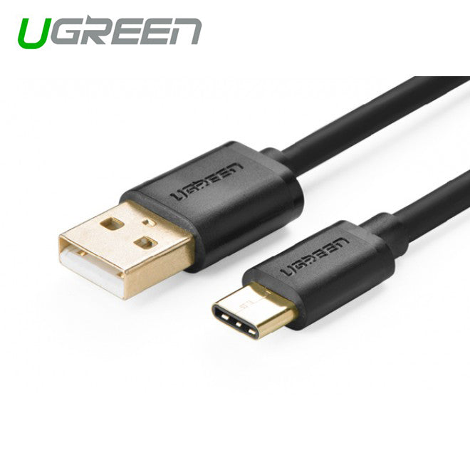 UGREEN USB 2.0 Type A Male to USB 3.1 Type-C Male Charge & Sync Cable - White 2M (30167)