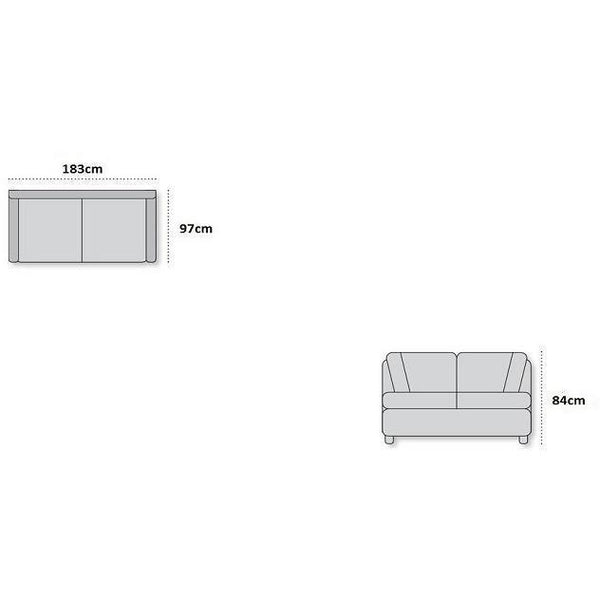 Axton 2.5 Seater ( Bison ) - Loungeout