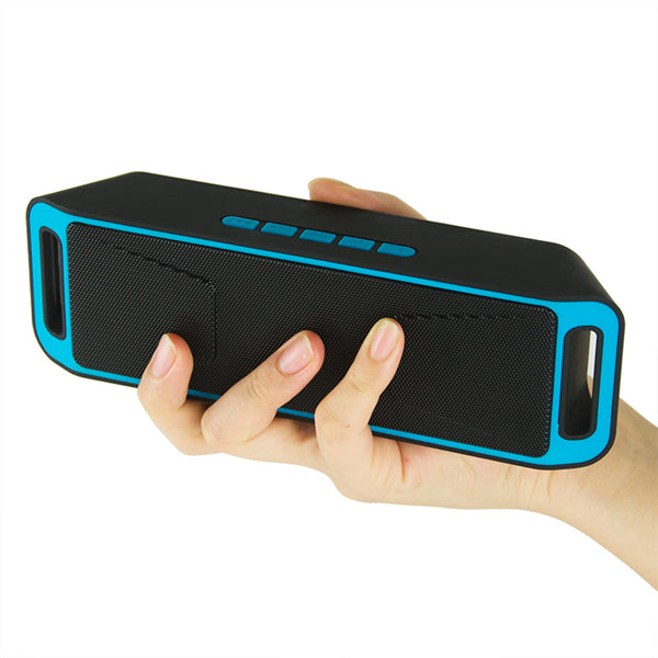 SC208 Portable Dual Speaker TF Card Aux-in U Disk Voice Prompt Wireless Stereo bluetooth Speaker