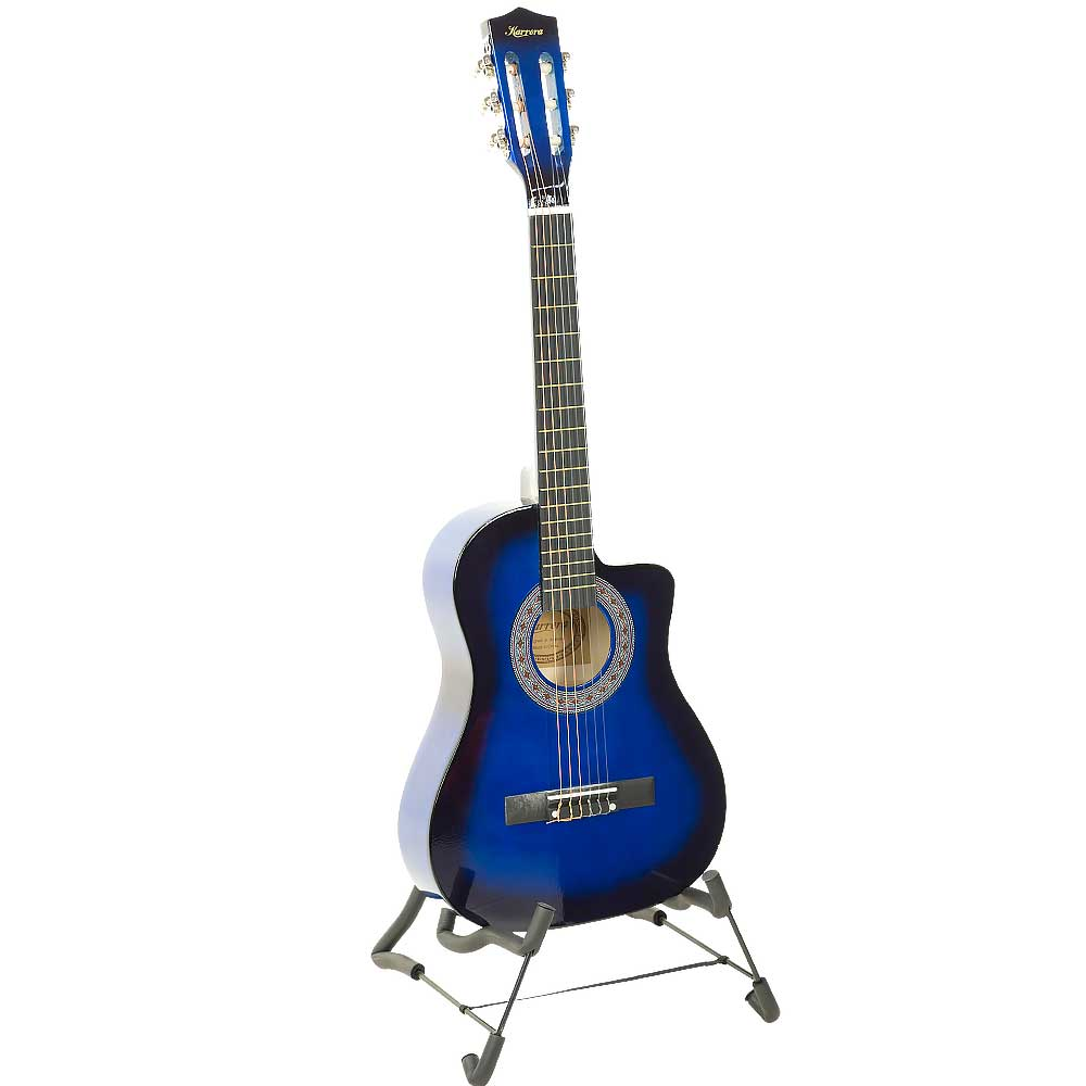 38in Cutaway Acoustic Guitar with guitar bag - Blue Burst