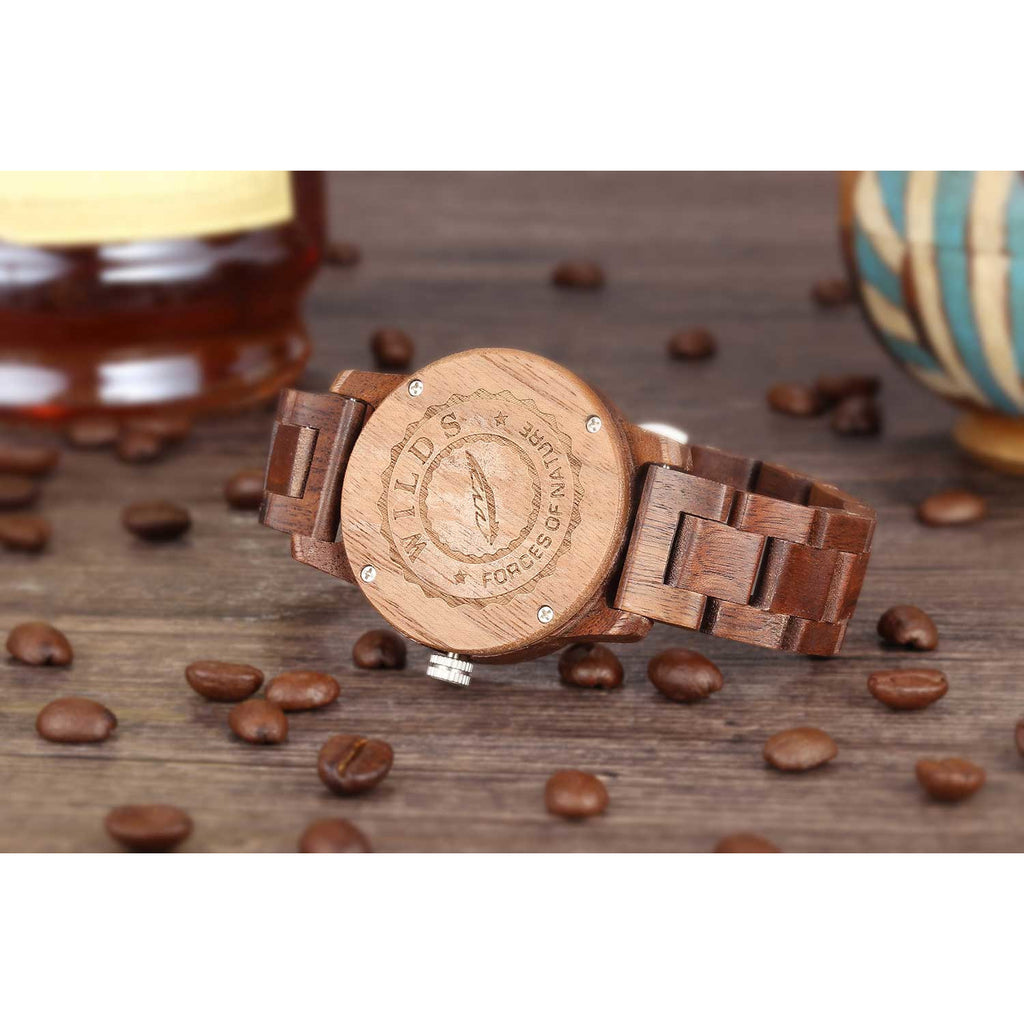 Men's Handcrafted Engraving Walnut Wood Watch - Best Gift Idea!