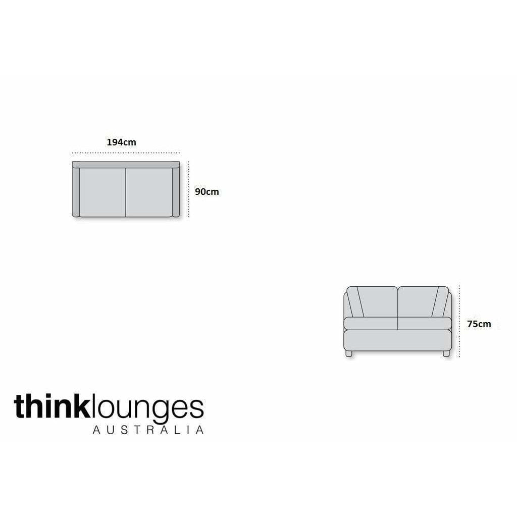 Grey Lounge | 2.5 Seater Sofa  | Ella 2.5 Seater Grey/Black