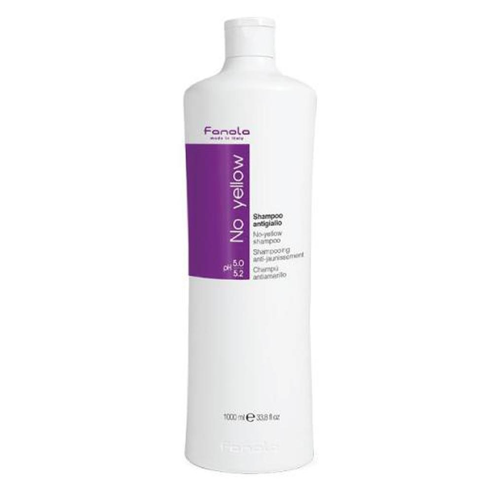 Fanola Shampoo No Yellow 1L Purple Toner Blonde Grey Streaked Hair Toning 1000ml