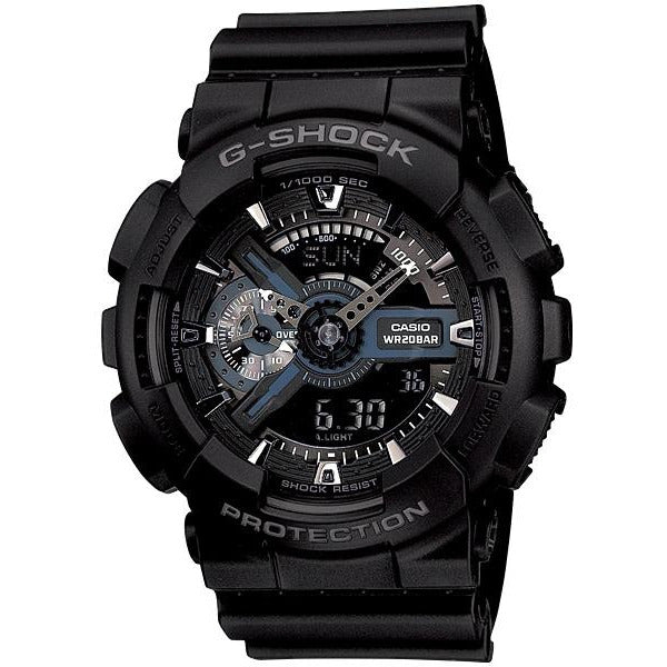 Casio G-Shock Analogue/Digital Mens Black Watch GA-110-1B GA-110-1BDR