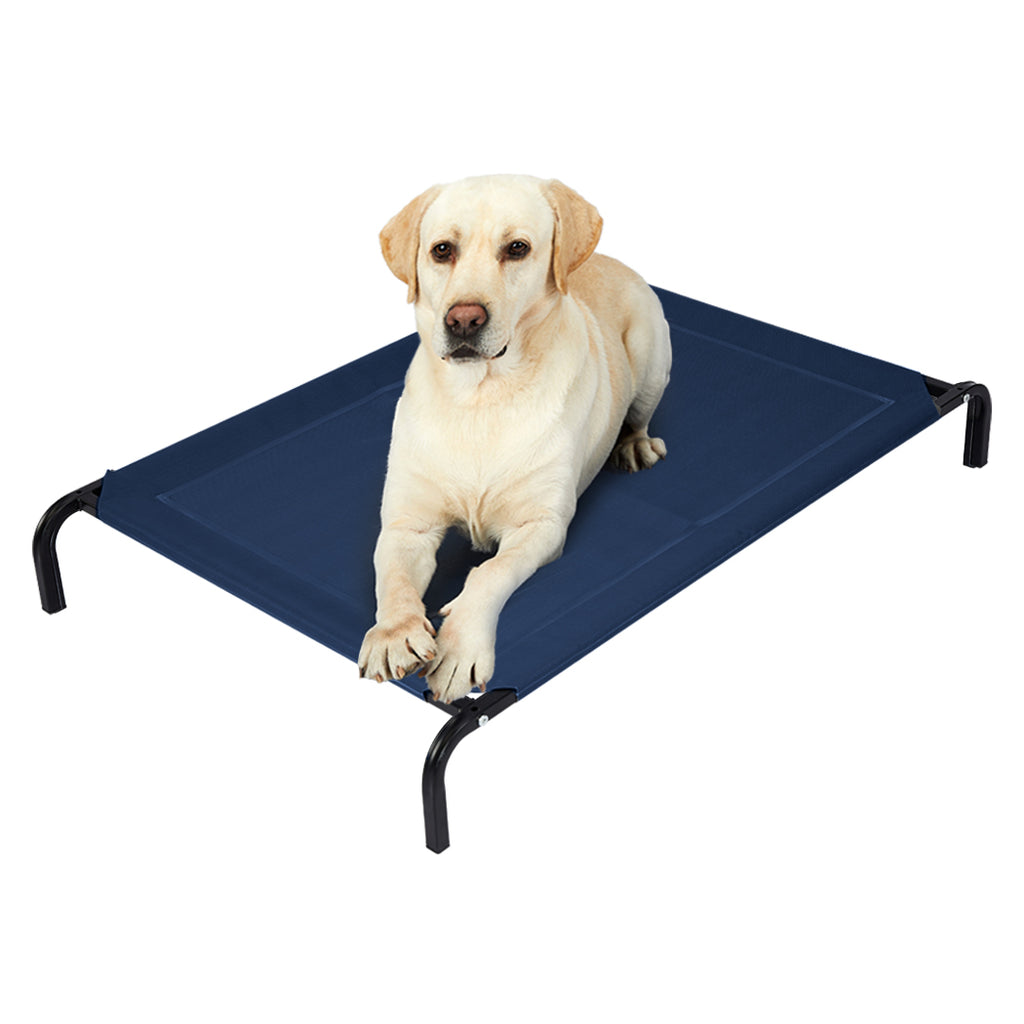 Pet Bed Dog Beds Bedding Sleeping Non-toxic Heavy Trampoline Navy L