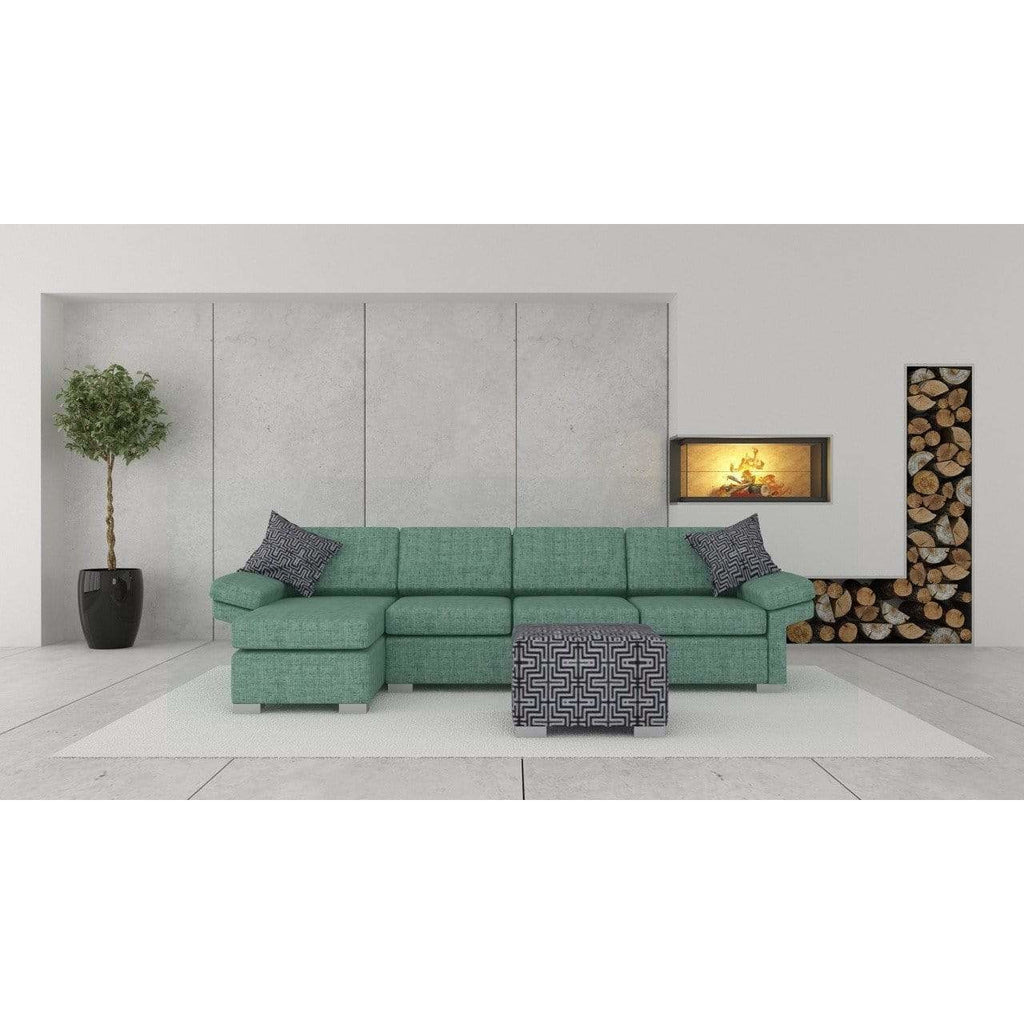 Wembley 3.5 + Chaise ( Jade ) - Loungeout