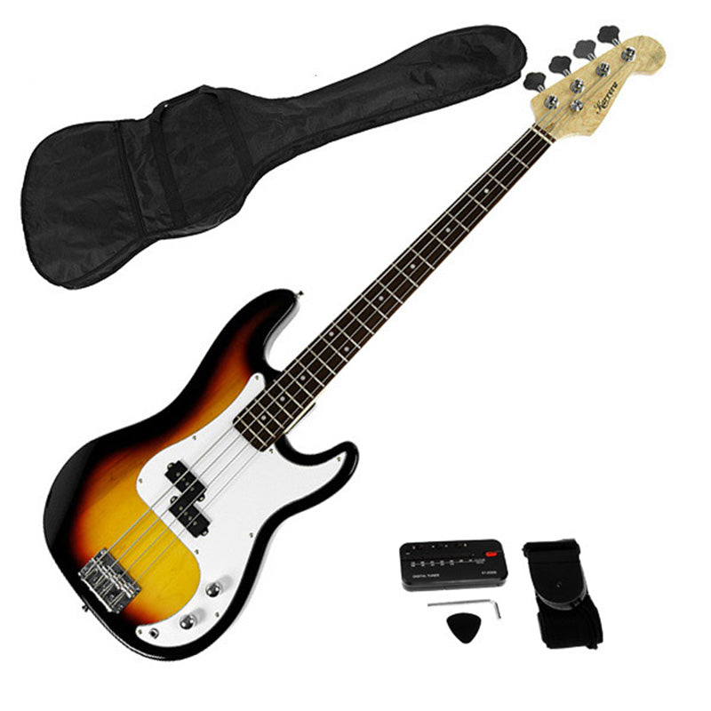 Karrera Electric Bass Guitar Pack - Sunburst