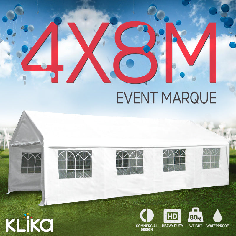 4x8 Outdoor event marquee - White