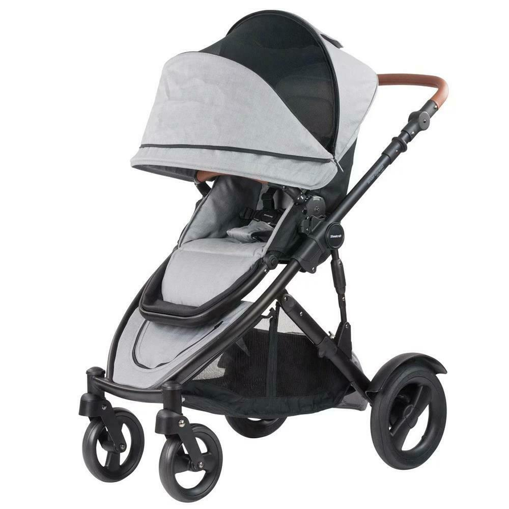 Steelcraft Strider Compact Deluxe Edition Stroller - Grey Linen