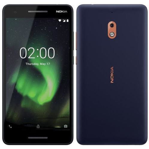 "New Nokia 2.1 Unlocked 4G 5.5""HD Android 8.1 Oreo(Go edition) Blue/Copper"
