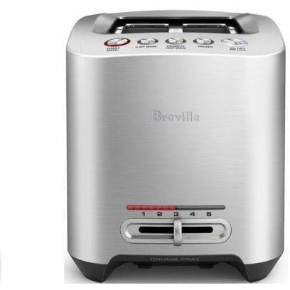 Breville the Smart Toast 2 Slice Stainless Steel Electric Toaster BTA825BSS
