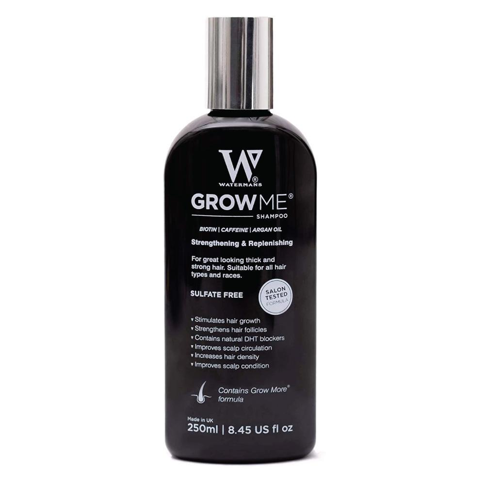 Watermans Grow Me Hair Growth Shampoo 250ml DHT Blocking Biotin Argan Anti Loss