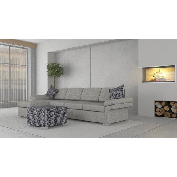 Wembley 3.5 + Chaise ( Ash Grey ) - Loungeout