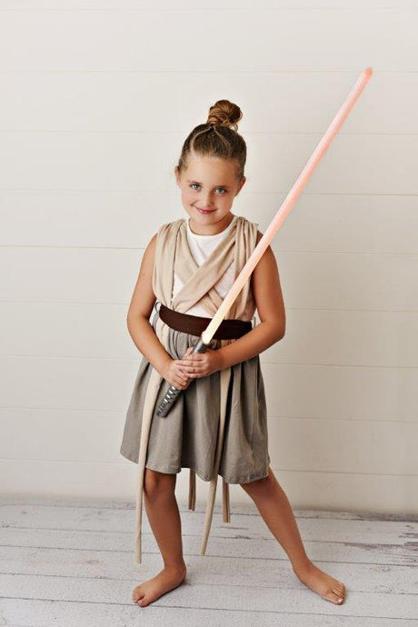 Make a DIY Lightsaber for Kids' Dress-Up Fun: Accessories for Our Rey Costume