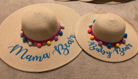 Mother and Daughter Matching Floppy Sun Hats