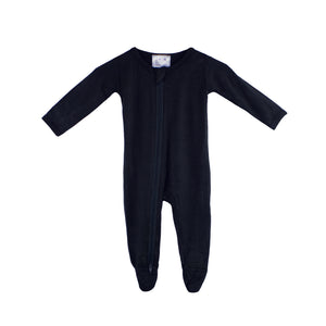 Double Zip Onesies - Dark Navy