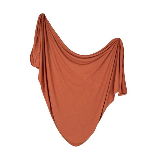 Snuggle Swaddle - Ribbed Rust