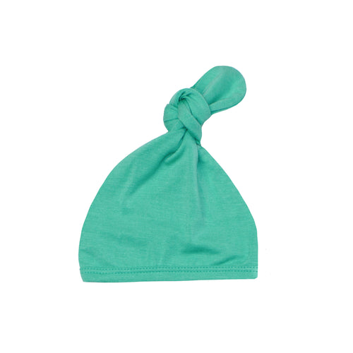 Top Knot Hat - Spring Green