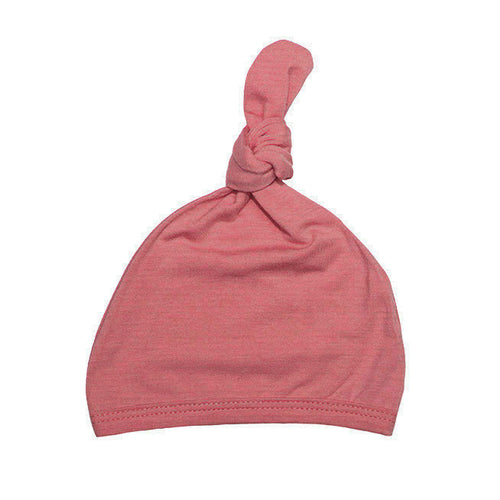 Top Knot Hat - Coral