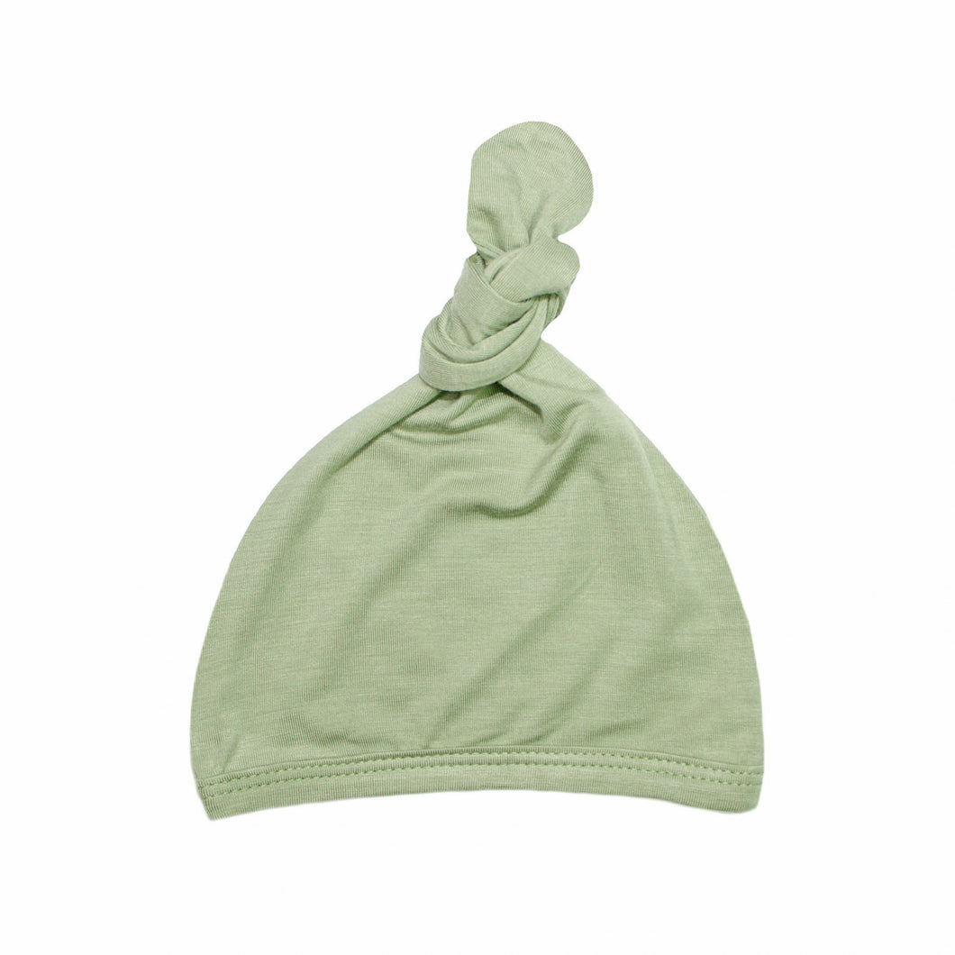 Top Knot Hat - Sage