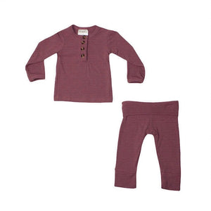 Softest 2 Piece Set - Ribbed Mauve