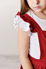 Load image into Gallery viewer, Ruffle Pinafore - Cabernet
