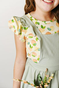 Softest Pinafore - Light Sage