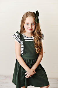 Softest Pinafore - Army Green