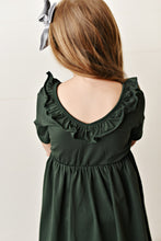 Load image into Gallery viewer, Army Green Ruffle Twirl Dress