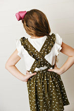 Load image into Gallery viewer, Softest Pinafore - Olive Green Heart