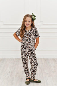 Ruffle Pocket Jumpsuit - Leopard