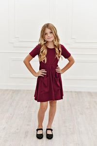 Dark Raspberry Twirl Dress