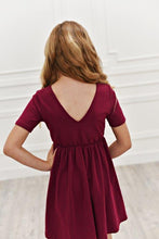 Load image into Gallery viewer, Dark Raspberry Twirl Dress