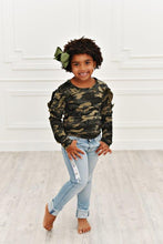 Load image into Gallery viewer, Camo Ruffle Long Sleeve