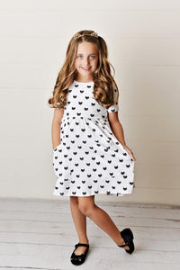 Cool Cat Twirl Dress