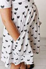 Load image into Gallery viewer, Cool Cat Twirl Dress