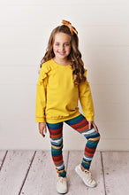 Load image into Gallery viewer, Mustard Ruffle Long Sleeve