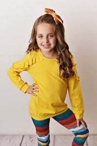 Mustard Ruffle Long Sleeve
