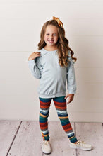 Load image into Gallery viewer, Chambray Ruffle Long Sleeve