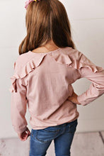 Load image into Gallery viewer, Dusty Rose Ruffle Long Sleeve
