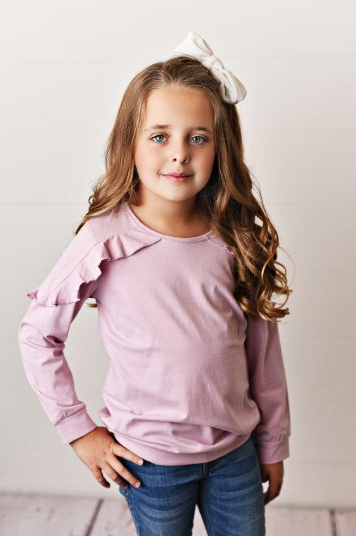 Lilac Ruffle Long Sleeve