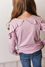 Load image into Gallery viewer, Lilac Ruffle Long Sleeve