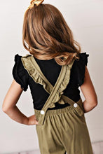 Load image into Gallery viewer, Olive Green - Ruffle Pocket Jumpsuits