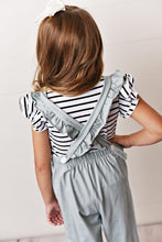 Load image into Gallery viewer, Chambray - Ruffle Pocket Jumpsuits