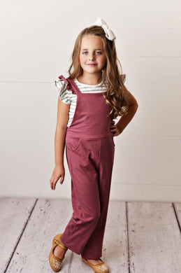 Mauve - Ruffle Pocket Jumpsuits